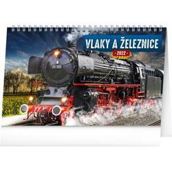 Kalendář 2022 stolní: Vlaky...